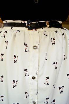 Love this cat print skirt x