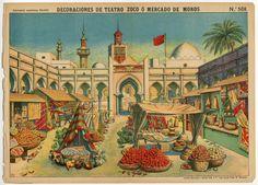78.2766: Decoraciones De Teatro Zoco O Mercado De Moros | theater | Play Sets | Toys | Online Collections | The Strong