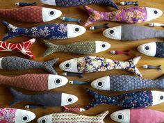 decorazioni da parete fish pillow in tessuto giapponese - dimensioni 50/60/90 cm