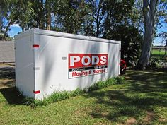 PODS storage container for Rosies Friends on the Street Secure Storage, Self Storage, Pods Moving, Packing Supplies, Moving And Storage, Big Houses, How To Level Ground, Storage Containers, Storage Solutions