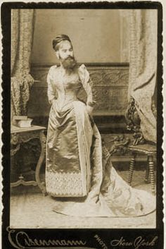 The Bearded Lady of Geneva - I totally love her look.