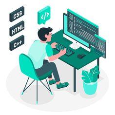 Programming concept illustration | Free Vector #Freepik #freevector #technology #web #software #code Design Web, Design Plat, Website Design, Web Design Company, Web Development Agency, Design Development, Software Development, Website Development Company, Creative Logo