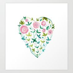 garden+heart+Art+Print+by+MEERA+LEE+PATEL+-+$20.00