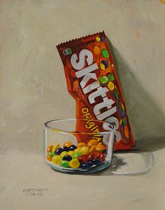 Candy in oil pastel??
