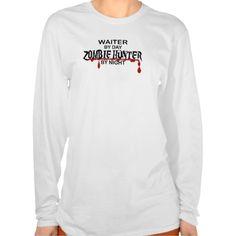 Waiter Zombie Hunter T Shirt, Hoodie Sweatshirt