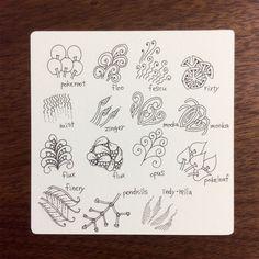 ゼンタングル公式パターン 模様の分類 - tanglefan