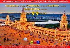 İspanya 4 gece 99 €'dan itibaren! Uçak biletlerini Miles&Miles ile alacaklar için eşi görülmemiş İspanya fırsatı... Valencia (4 gece) - Cordoba (4 gece) Madrid (3 gece) - Barcelona (2 gece) sadece 99 €. Yıl boyunca her gün, en avantajlı fiyatlar, en kaliteli oteller, Üstelik para iadesi garantisiyle... Bilgi için: 0212 237 90 60