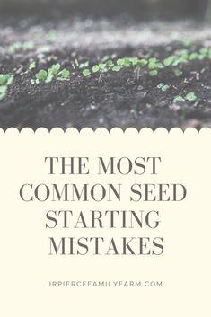 10 Common Seed Starting Mistakes - J&R Pierce Family Farm Herb Garden Design, Diy Herb Garden, Easy Garden, Gardening For Beginners, Gardening Tips, Container Gardening, Vegetable Gardening, Sustainable Gardening, Sustainable Living