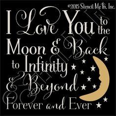 To Infinity & Beyond Kids Typography Stencil | stencilmein.com