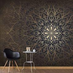 Mandala of Love Wallpaper Mural 3d Wallpaper Mural, Love Wallpaper, Photo Wallpaper, Designer Wallpaper, Wallpaper Wallpapers, Ornament Tapete, Wall Design, Design Design, Design Ideas