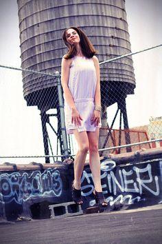 Lavender Drop Waist Dress by Undecillion on Etsy, $135.00