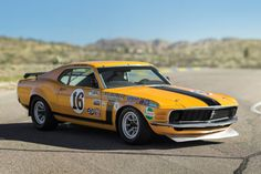 This 1970 Ford Mustang Boss 302 Trans Am race car was built by Kar Kraft for the 1970 Trans Am season as the Bud Moore team car and successfully