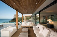 """Cape Town-based studio SAOTA – Stefan Antoni Olmesdahl Truen Architects has completed the Plett 6541+2 project in 2010. This three story contemporary home is located in the coastal town of Plettenberg Bay on the famous Garden Route, South Africa.                  Plett 6541+2 Residence by SAOTA: """"The clients requested a 6-bedroomed family home with understated elegance and quiet grandeur, indoor / outdoor living spaces and uninterrupted views, with a """"lived-in beach-house"""" feel.  The…"""