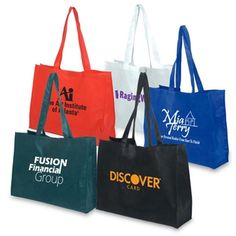 Economical Mega Trade Show tote bag comes in a choice of five colors to help show off your logo. Monogram Tote Bags, Custom Tote Bags, Effective Marketing Strategies, Advertising Slogans, Trade Show Giveaways, Non Woven Bags, Promo Gifts, Mobile Accessories, Bag Sale