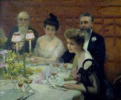 La esquina de la mesa, Paul Chabas (1904).