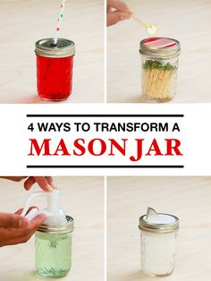 Turn a mason jar into a variety of household necessities with these easy hacks.