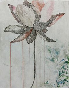 Travel plays a big role in not only Belinda Fox 's life, but her art-making too. Since graduating from Victoria College of the Arts wit. Water Lilies Painting, Lily Painting, Painting & Drawing, Botanical Illustration, Illustration Art, Art Illustrations, Graphic Wallpaper, Fox Art, Hand Art