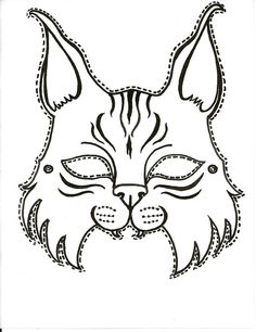 Printable Mask Template Pinildikó Szeri On Farsang  Pinterest  Cat Mask Masking And Craft