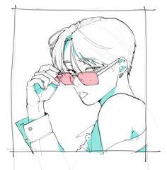 Love or hate lezhin Pretty Art, Cute Art, Aesthetic Anime, Aesthetic Art, Poses References, Art Poses, Drawing Reference Poses, Drawing Base, Anime Sketch