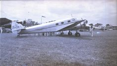 """Lockheed 12A Electra Junior (NC17379, c/n 1224) of Standar Oil of Venezuela. It was registered to Standard Oil of Venezuela on June 16th, 1937 and was on the island of Aruba on February 22nd, 1942 when it was """"substantially"""" damaged in an U-boat raid. It was subsequently registered as N17379 and N112PB. It is being restored to airworthy condition."""