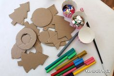 Use this template to create cute ornaments kids can decorate