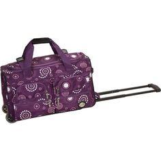 Rockland Luggage 22 inch Rolling Duffle Bag, Beige