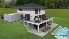Haus bauen Pistenhaus Old School Looks Article Body: We have found countless ways of Sustainable Architecture, Modern Architecture, Pavilion Architecture, Building Architecture, Residential Architecture, Houses On Slopes, Hillside House, 3d Home, Stone Houses