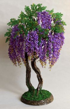 Beaded Flowers, Embroidered Flowers, Crochet Flowers, Princess Crafts, Clay Birds, Wire Trees, Bonsai Plants, Wire Art, Bead Crochet