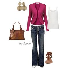 Pink & Denim, created by mandys120 on Polyvore