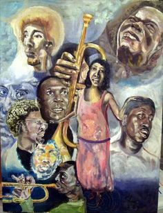 Also Jimi Hendrix, Johnny Shines Lightning Hopkins by Lee Burt Oil on canvas Johnny Shines, Stanley Clarke, Bessie Smith, Herbie Hancock, Louis Armstrong, Miles Davis, Jimi Hendrix, Surreal Art, Art World