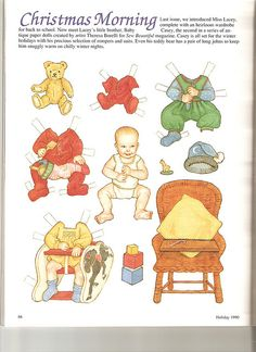 Sew Beautiful paper doll Christmas 1 by Lagniappe*Too, via Flickr