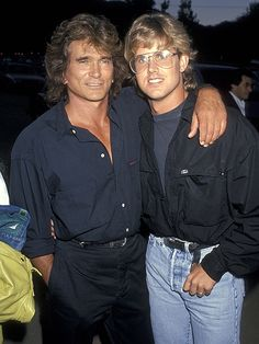 Michael Landon and Michael Landon Jr.