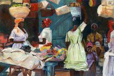Haitian Women in market byLinda Ruden