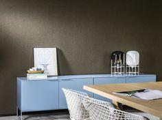 papier peint noir Le Corbusier Dots et enfilade bleue