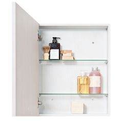 Minimalist, streamlined, Slimline 550 is a bathroom cabinet that has won awards. Fitting into the tightest spots, the cabinet houses two adjustable emerald edged glass shelves and the door hinges soft close. The slim oak frame is super flush with the face of the mirror and the cabinet can be mounted for either left or