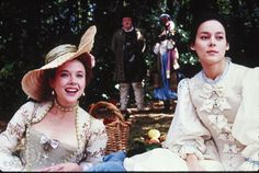 Annette Benning & Meg Tilly in Valmont Annette Benning, Famous Movie Scenes, Lead Lady, 18th Century Fashion, Colin Firth, Costume Collection, Period Costumes, Love Movie, Historical Costume