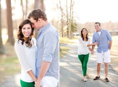 Engagement Photography What to Wear?Ideas: Add a pop of color!