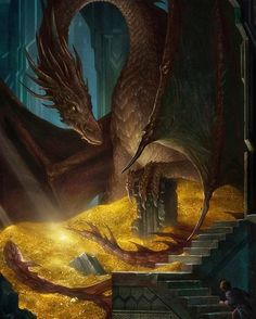 This is my latest art of work, THE HOBBIT: Smaug and Bilbo. People who read such novel must be familiar with this scene, of course, I only draw it accor. THE HOBBIT Smaug and Bilbo Jrr Tolkien, Demon Dragon, Dragon Art, Hobbit Dragon, Smaug Dragon, Fire Dragon, Art Hobbit, Smaug Hobbit, Hobbit Book