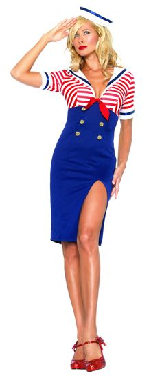 Sexy Deckhand Diva Sailor Costume - Sailor Costumes
