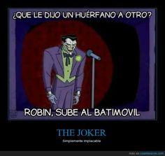 La mala leche del Joker contando chistes - Simplemente implacable Gracias a http://www.cuantarazon.com/ Si quieres leer la noticia completa visita: http://www.estoy-aburrido.com/la-mala-leche-del-joker-contando-chistes-simplemente-implacable/
