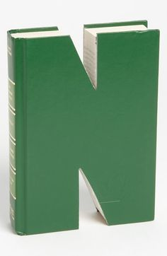 'One of a Kind Letter' Hand-Carved Recycled Book Shelf Art (Nordstrom)