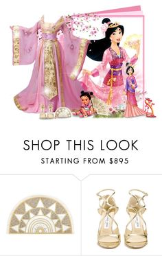 """""""Mulan!"""" by asia-12 ❤ liked on Polyvore featuring Disney, Charlotte Olympia and Jimmy Choo"""