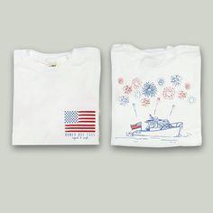 Patriotic Boat Short Sleeve Tee