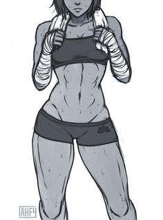 Korra's muscles