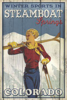 Skiing Winter Sports in Steamboat Springs Poster Print - Image Source