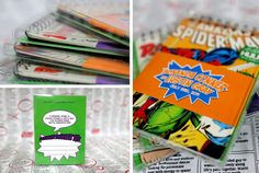 Comic Book Wedding Invitation Sample Only  Upcycled by SusieHoss, $15.00