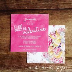 beautiful birthday watercolour watercolor floral bloom invitation little girls or bridal shower, baby shower, wedding