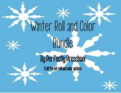 Winter Roll and Color Bundle from Perfectly Preschool on TeachersNotebook.com -  (9 pages)  - 8 different winter themed roll and color activities for different levels of challenge.