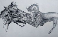 Pencil Horse and the girl
