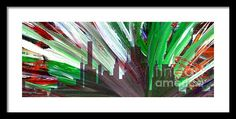 Painting - Decorative Skyline Abstract  Houston T1115f Framed Print By Mas Art Studio  #Abstract  #Mas #Art #Studio #MasArtStudio #MarthaAnnSanchez #Martha #Ann #Sanchez